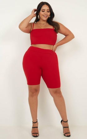 Making Moves Crop Top In Red