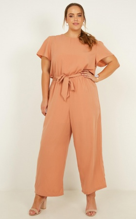 45142211ca3 ... Pave Your Path Jumpsuit In Mocha ...