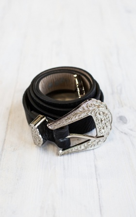 On The Road Belt in Black
