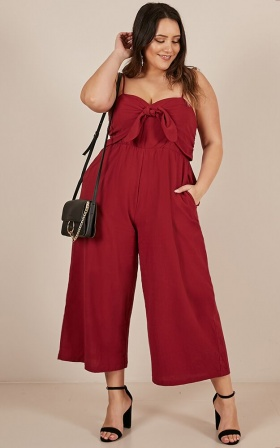Time Heals All Jumpsuit in wine
