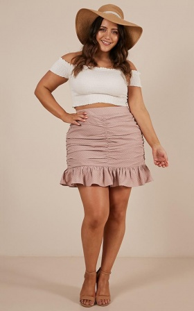 Always A Surprise Skirt in dusty pink spot