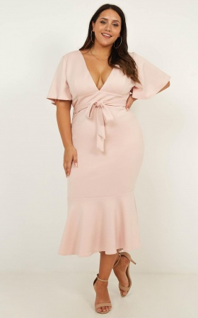 Midnight In Paris Dress In Blush