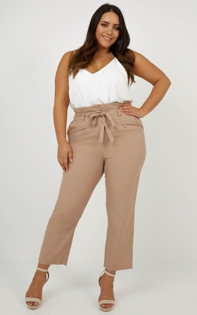 Management Pants In Beige