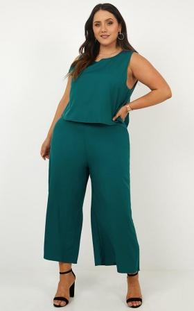 All Embrace Jumpsuit In Emerald