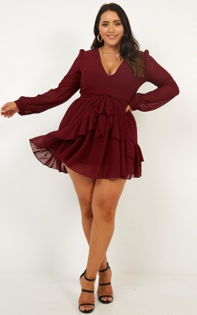 For A Rainy Day Dress In Wine