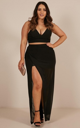 Body Language two piece set in black