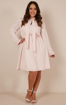 Bossy Girl Dress In Blush