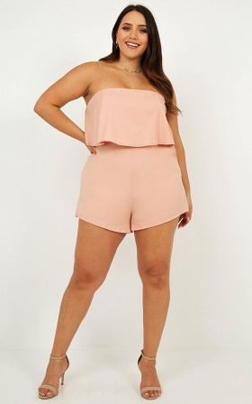 Cool Breeze Playsuit In Blush