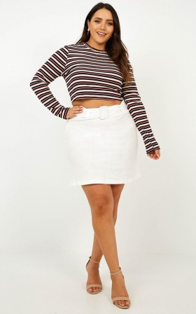 Love Someone Top In Wine Stripe