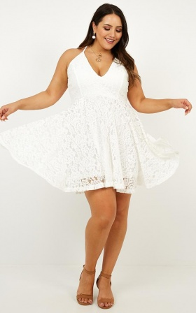 All In The Details Dress In White Lace