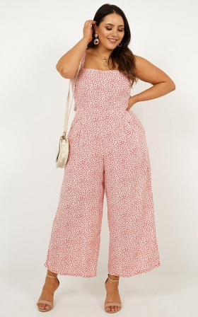 4ab8d352459 ... Life On The Road Jumpsuit In Red Floral ...