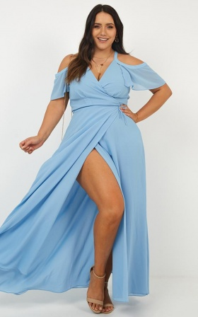 Give You My All Dress In Cornflower Blue