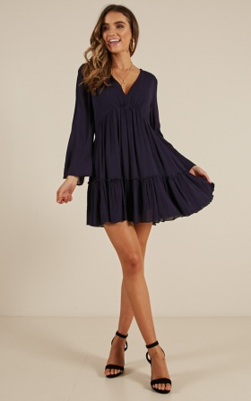 The Original Babe dress in navy