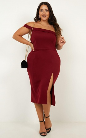 Everyday With You Dress In Wine