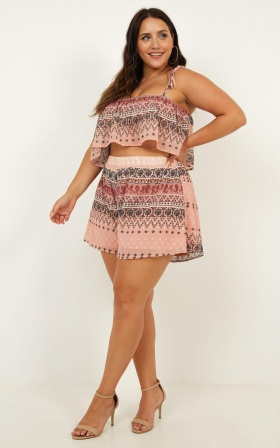 Kindered Love Two Piece Set In Boho Print