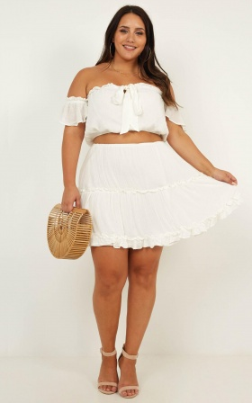 Love You So Two Piece Set In White