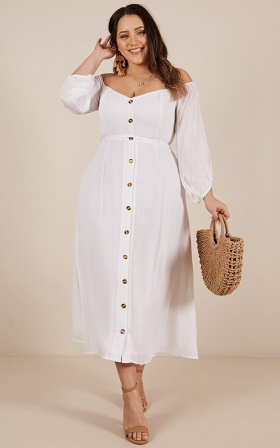 Sorrento Dreaming Dress in white linen look