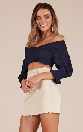 Diamond Jules crop top in navy
