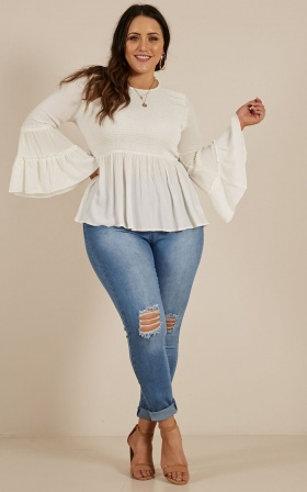 Whatever Works top in White