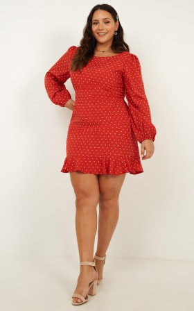 Summer Forever Dress In Red Print