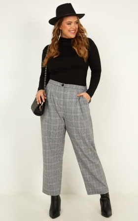 Alpine Pants in Grey Check
