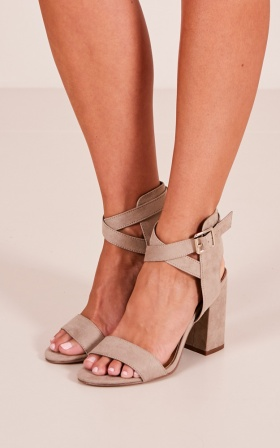 Therapy - Collins Heels In Taupe Suede