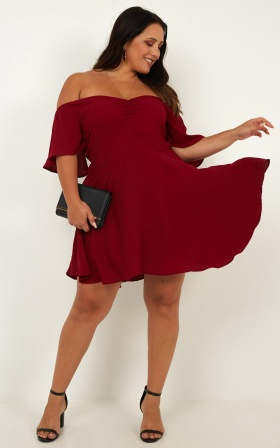 High Pressure Dress In Wine
