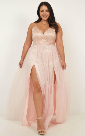 Just A Fantasy Dress In Blush