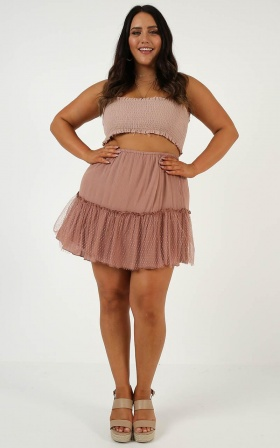 Keeping Faith Skirt In Mocha