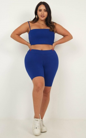 Making Moves Crop Top In Cobalt