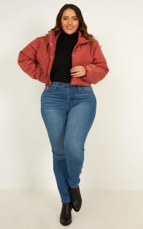 More Important Puffer Jacket In Dusty Rose