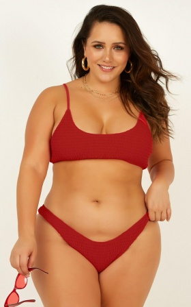 Rory Bikini Top In Poppy