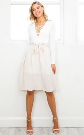 Rosewood Skirt In Beige