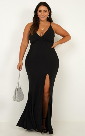 Storm Soul Maxi Dress In Black