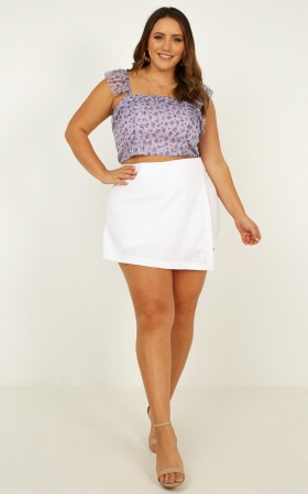 Sun Kisses Top In Lilac Floral