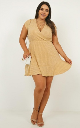 Sweet Feeling Dress In Mustard