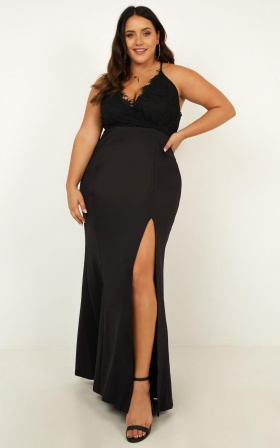 The Icon Maxi Dress In Black