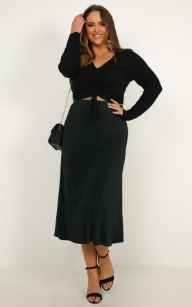 Think About Us Skirt In Green
