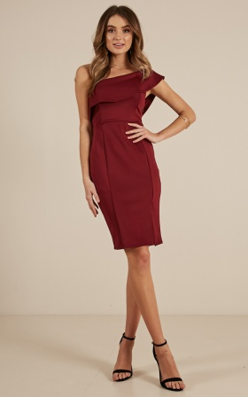 Seven Seas Dress In Wine