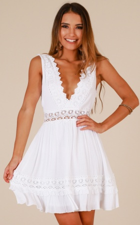 Simple As That Dress In White
