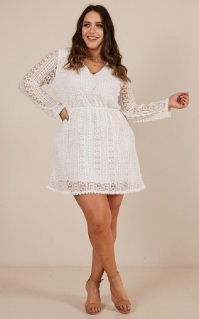Your Best Self Dress In White