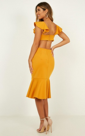 Sunset Dates Dress In Mango