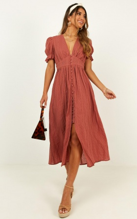 Sweetness Overload Dress In Dusty Rose