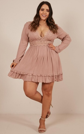 Sweet Lady Dress in mocha
