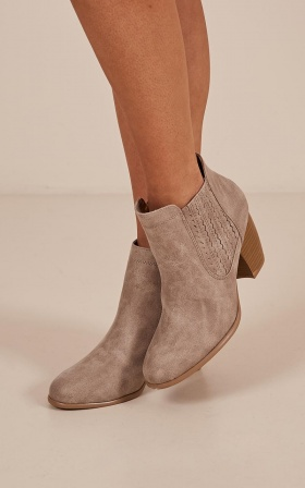 Zillion boots in taupe