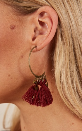 Theres A Reason earrings in wine