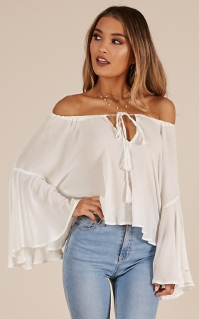 Made To Dance top in white