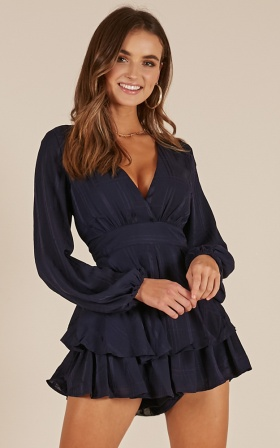 On Rotation Playsuit In Navy