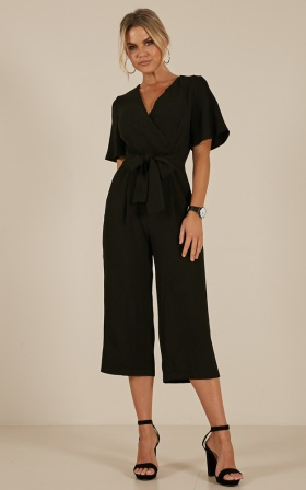 Writers Retreat Jumpsuit In Black