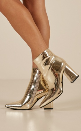 Therapy - Alloy boots in gold